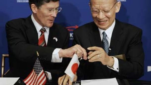 New York und Tokio bilden Börsenallianz