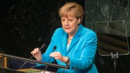 Merkel spricht auf UN-Gipfel