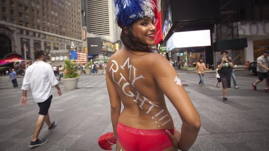 Nackte Straßenkünstler sorgen für Unmut auf dem Times Square