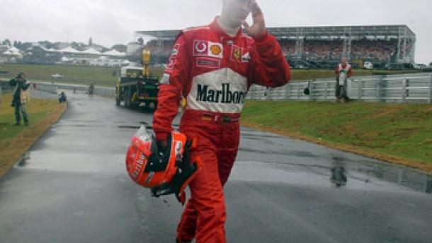 Wie die Formel 1 bei Regen ins Schwimmen gerät