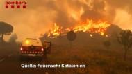 Kampf gegen Flammen-Inferno vor Barcelona