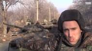 Russische Kampfpanzer im Nachbarland