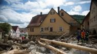 Tote und Vermisste nach Unwetter in Süddeutschland