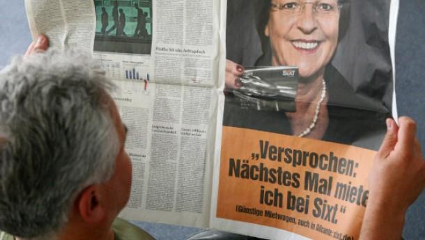 Sixt: schwarze Zahlen ... und Werbung mit Ulla Schmidt