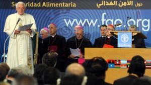 Benedikt XVI.: Den Hunger nicht akzeptieren
