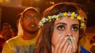 Brasilianische Fans in Schockstarre
