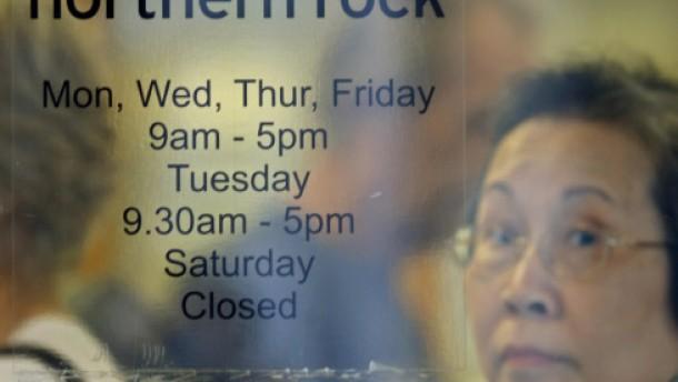 Kundenansturm auf die Filialen von Northern Rock