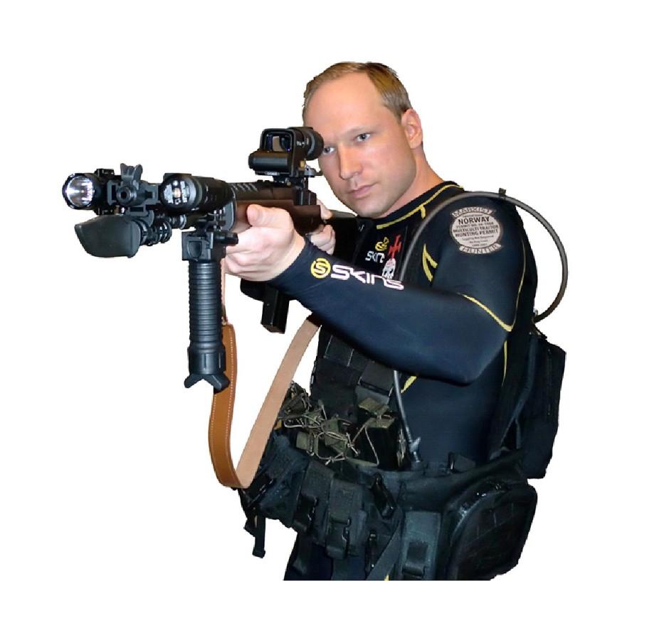 So präsentierte sich Anders Breivik in einem Video am Tag des Attentats