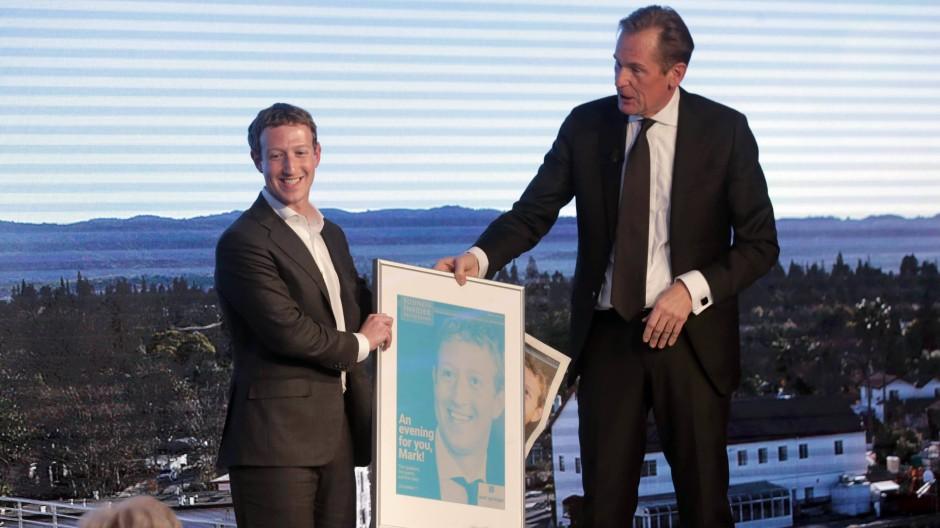 "Facebook-Chef bekommt ""Axel Springer Award"""