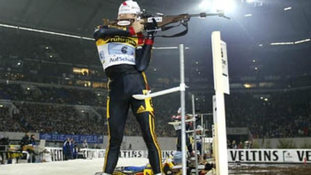 Bayerisches Duo gewinnt Biathlon-Spektakel auf Schalke