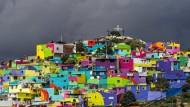 Farbe bringt Frieden in mexikanischen Slum