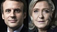 So unterscheiden sich Macron und Le Pen