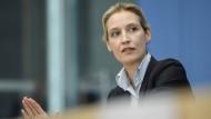 Alice Weidel wirft Macron Umverteilung und Le Pen Ultrasozialismus vor