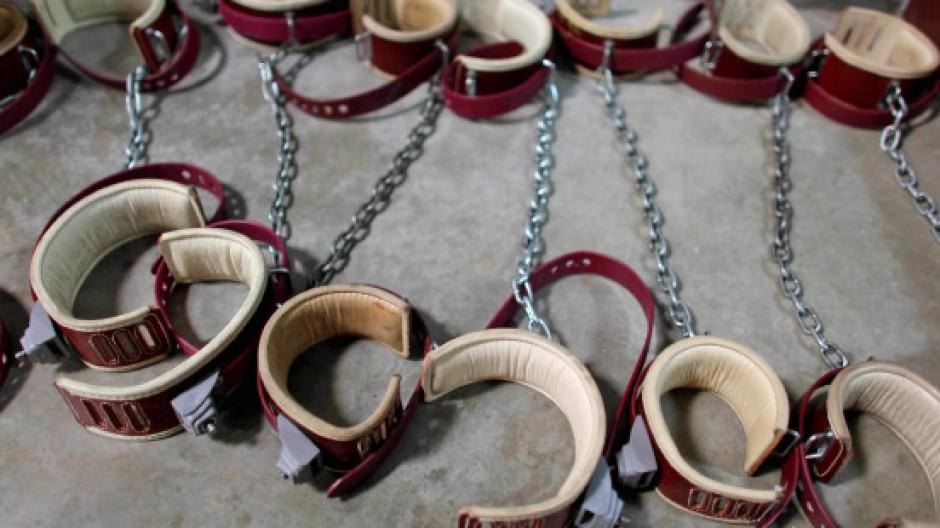 Fußfesseln in Guantánamo