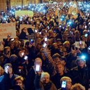 Protest in Budapest gegen die Pläne des Ministerpräsidenten Orban