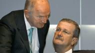 Kollegen, Geschäftspartner, viel mehr aber noch Rivalen. Ferdinand Piëch und Wendelin Wiedeking (v.l.)