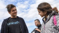 Orlando Bloom trifft Syrien-Flüchtlinge
