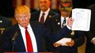 Donald Trump geht auf die Medien los