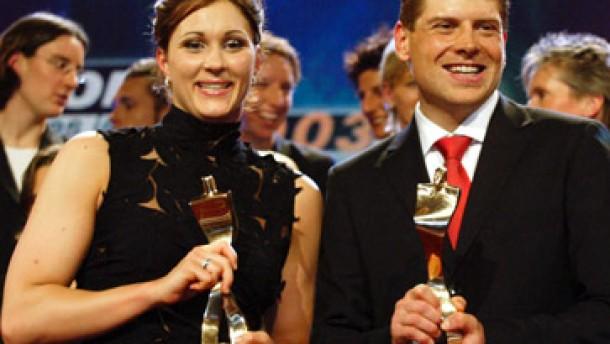 Hannah Stockbauer und Jan Ullrich vorn