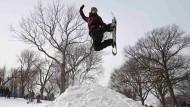 Wintersport im Vorgarten