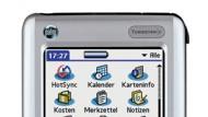 Nun mit Mini-Tastatur: Der Tungsten C von Palm mit seiner reichhaltigen Software-Ausstattung.