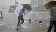 Heftiger Hagelsturm wütet in Istanbul