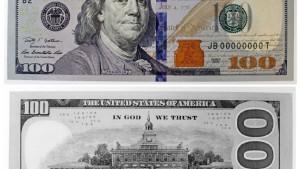 Die 100-Dollar-Note wird geliftet