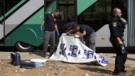 Messerangriff auf Israelis in Bus in Jerusalem