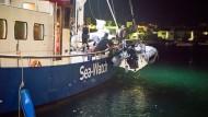 Sea-Watch im Einsatz zur Rettung von Flüchtlingen im Mittelmeer