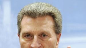 """Oettinger warnt Carstensen vor """"Erpressung"""""""