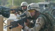 Immer wieder unter Beschuß: Amerikanische Soldaten im Irak