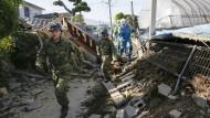 Erneut schweres Erdbeben im Süden Japans