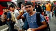 Flüchtlingszüge treffen in Bayern ein