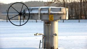 Druckabfall an der Gasschleuse