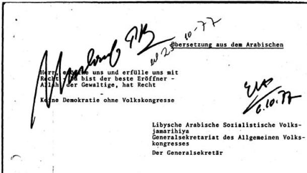 Libysche Hilfe für die DDR