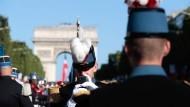 Militärparade in Frankreich