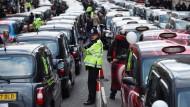 Londoner Taxifahrer gegen Uber