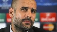 Pep Guardiola: Bin nicht unzufrieden