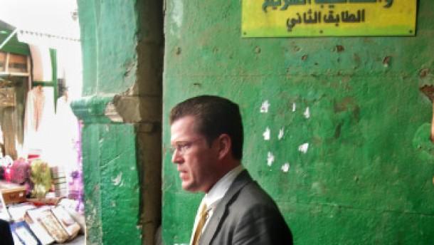 Klinkenputzen  bei Gaddafi