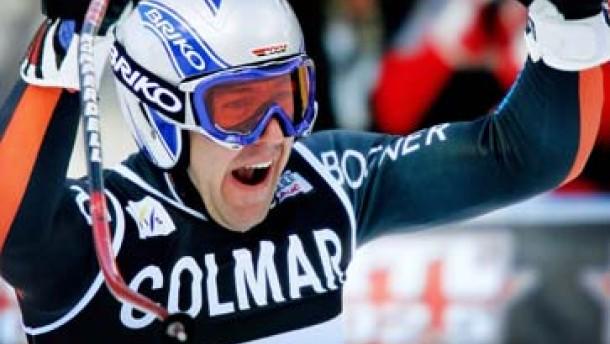 Max Rauffer sensationell Abfahrtsieger in Gröden