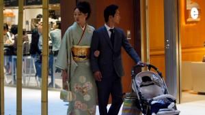 Japan arbeitet an der Drei-Kinder-Familie
