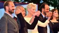 Tilda Swinton und Ralph Fiennes in Venedig
