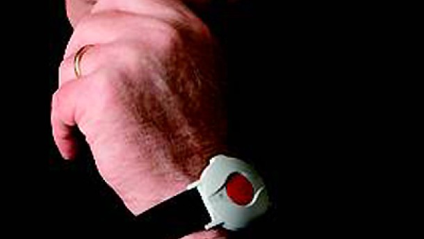 Hausnotruf-roter Knopf