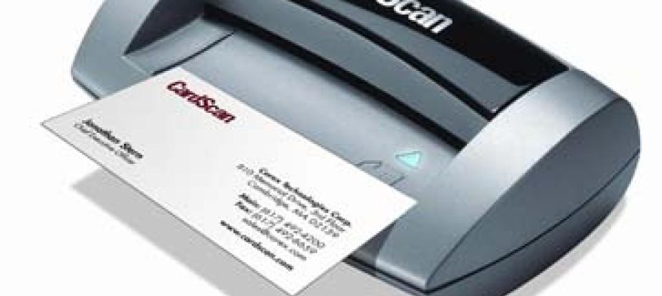 Scanner Flinke Elektronik Bringt Die Visitenkarte In Den Pc