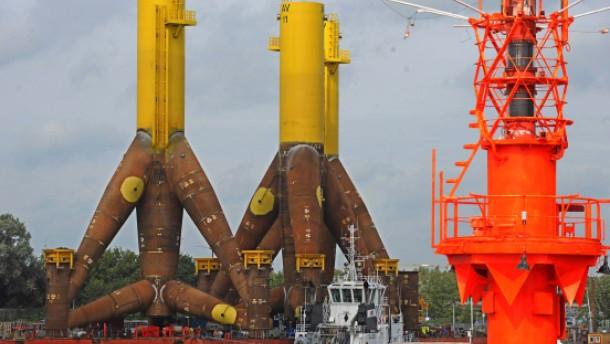 Wind verzögert Bau von Offshore-Windpark