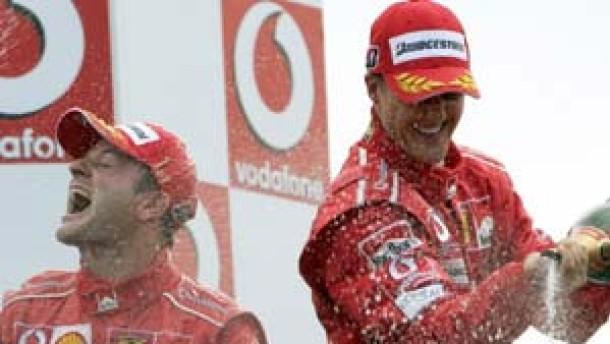 Ferrari-Festspiele in Italien: Barrichello vor Schumacher