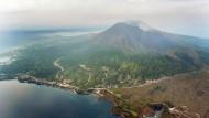 Aktiver Vulkan nahe japanischem Atomkraftwerk