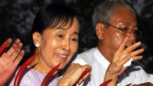 Aung San Suu Kyi in Freiheit