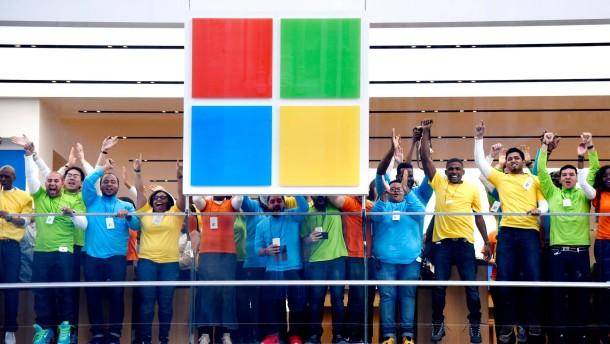 Microsoft macht auf Apple