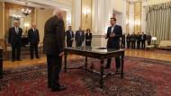Tsipras legt Amtseid als neuer Ministerpräsident ab